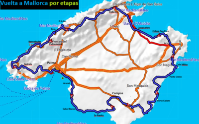 Tour in stages around the whole Mallorca by biclycle