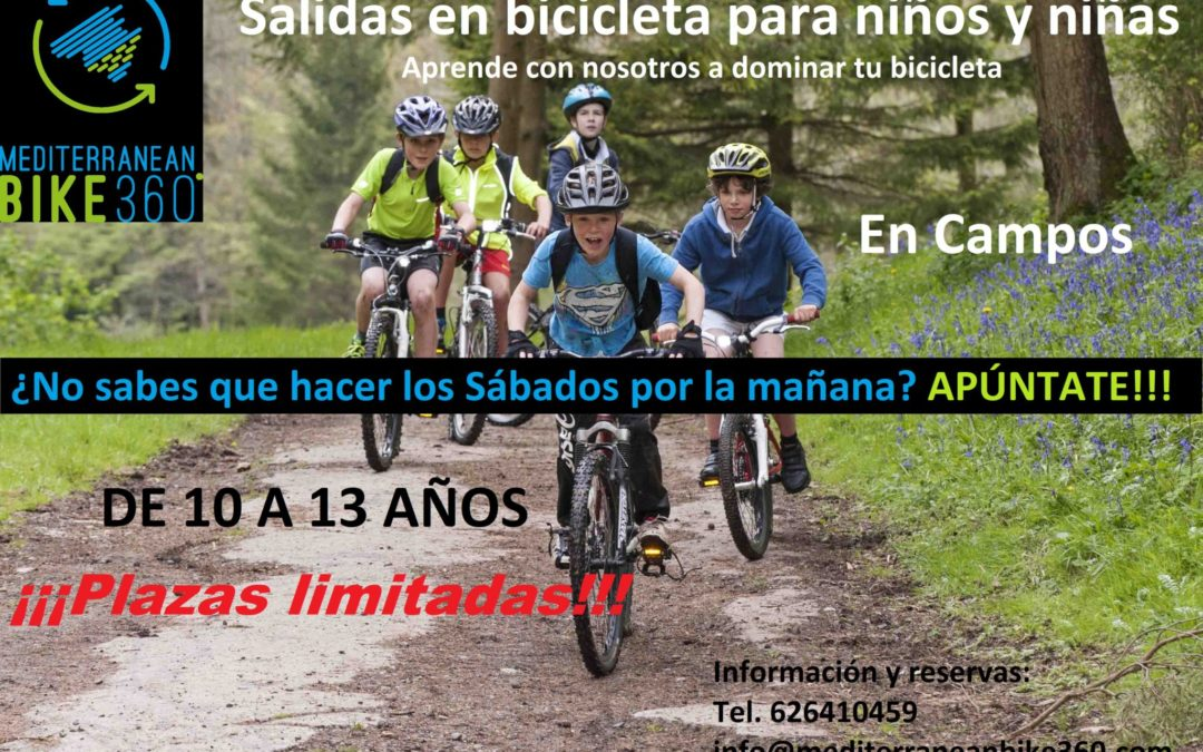 Salidas en bicicleta para niños